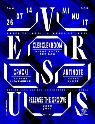 VERSUS Night : CLEKCLEKBOOM vs ANTINOTE vs RELEASE THE GROOVE vs CRACKI