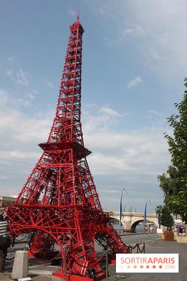 Paris Plage 2014 : Tour Eiffel Fermob