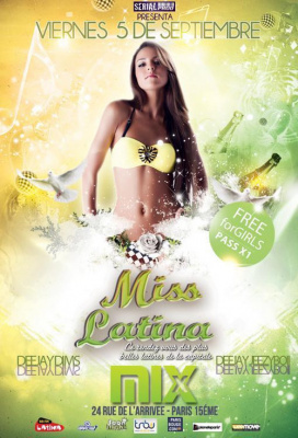 MISS LATINA - Entrée gratuite @Mix Club
