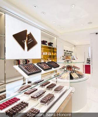 Marcolini Saint-Honoré à Paris, boutique de chocolats