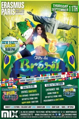 International Pub Party - Fête du Brésil
