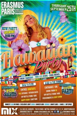 Nouvelle Soirée Ouverture 21h00 - International Pub Party - Hawaiian Party