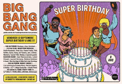 BIG BANG GANG PARTY SUPER BIRTHDAY: 8 ANS !