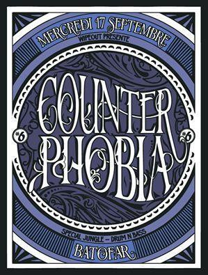 COUNTERPHOBIA #6 special DNB avec ELISA DO BRASIL / BEN WILLIAM / MC YOUTHMAN / SOPER / ZILOUB / TERENCE / VINI SELECTA / LOWMAX