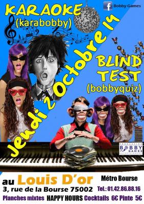 Quiz musical & Karaoké GRATUIT le 02/10/14 au LOUIS d'OR