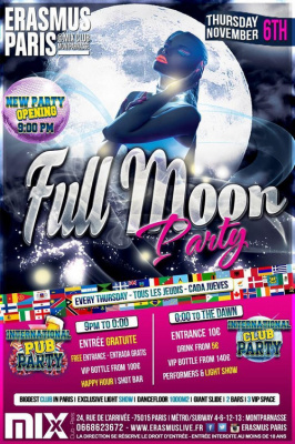 Erasmus Paris - Full Moon Party