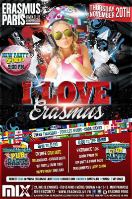 Erasmus Paris - I Love Erasmus