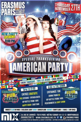 Erasmus Paris - American Thanksgiving Party