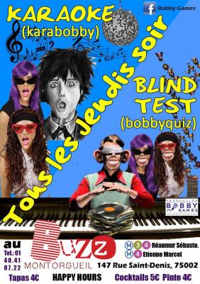 Quiz musical (blind-test) & Karaoké GRATUIT au BUZZ Montorgueil