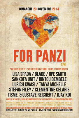 LOVE FOR PANZI CONCERT DE SOUTIEN À LA PANZI FOUNDATION (RDC)