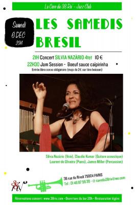 Silvia Nazário Quartet Soirée Brésil