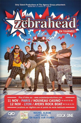 ZEBRAHEAD + GUEST en tournée à Paris (11Nov)
