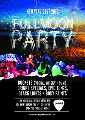 NYE 2014/15 Full Moon Party in Belushi's Paris canal