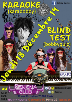 Quiz musical (blind-test) & Karaoké GRATUIT au SERENA CLUB