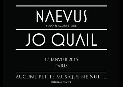 Naevus (solo & acoustique) et Jo Quail