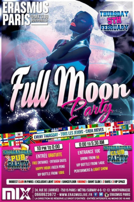 Erasmus Paris : Full Moon Party (2015)