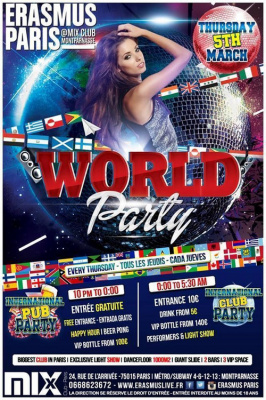 Erasmus Paris : World Party