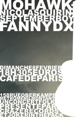 Mohawk + Nicolas Quirin + September Boy + Fanny DX