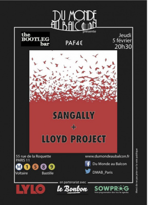Concert de Sangally et Lloyd Project à Paris, le 05/02