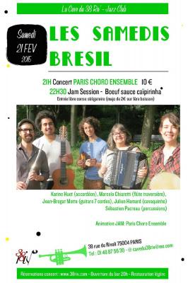 Paris Choro Ensemble Soirée Brésil