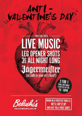 Anti-Valentines Day Party @ Belushi's