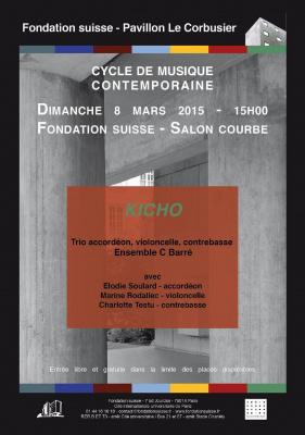 """""""Kicho"""" Trio Ensemble C Barré - Cycle de musique contemporaine"""