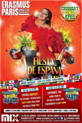 Erasmus Paris - Fiesta de Espana