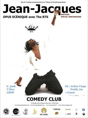Sun is Coming en partenariat avec Velours & Gratin présentent: Jean-Jacques, et son OPUS SCÉNIQUE avec The RTS