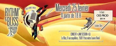 CONCERT LIVE + JAM SESSION au RYTHM N' BLISS / ENTREE GRATUITE