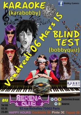 Quiz musical (blind-test) & Karaoké GRATUIT au SERENA CLUB
