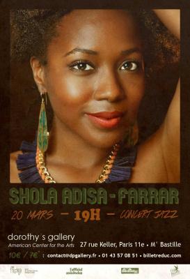 Concert Jazz/soul de Shola Adisa-Farrar