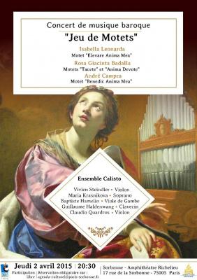 """Concert de musique baroque : """"Jeu de Motets"""""""