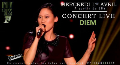 CONCERT LIVE DIEM + JAM SESSION au RYTHM N' BLISS / ENTREE GRATUITE
