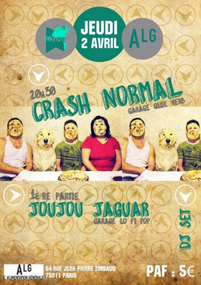 KATAPUT présente CRASH NORMAL + JOUJOU JAGUAR