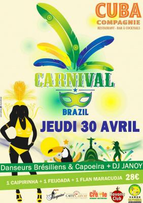 Carnaval Brésilien au Cuba Compagnie Café le 30 avril 2015