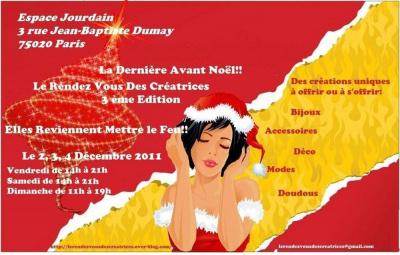 """Le Rendez Vous des Créatrices 3 eme Edition """"La Dernière Avant Noël"""""""