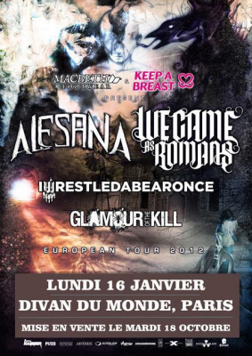 Alesana + We Came As Romans + Iwrestledabearonce + Glamour Of The Kill