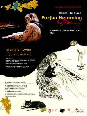 Fuzjko HEMMING en concert exceptionnel au Théâtre Adyar