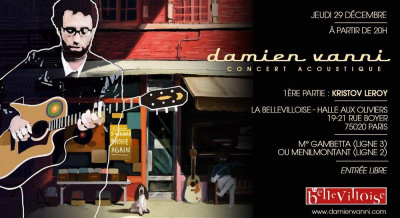 Concert de Damien Vanni