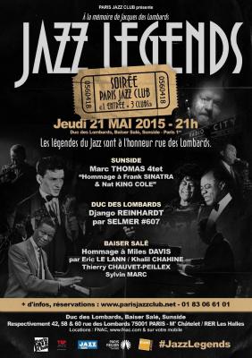 1 entrée = 3 clubs - Tarif 25€ - Soirée Paris Jazz Club - JAZZ LEGENDS
