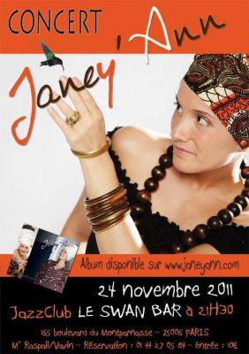 JANEY'ANN en CONCERT - Parce que Novembre ne rime pas qu'avec Robe de Chambre !