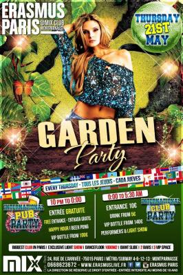 Erasmus Paris : Garden Party
