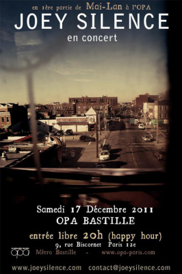 Joey Silence en concert à l'OPA Bastille