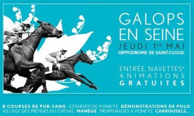 Galops en Seine, Jeudi 1er mai, Hippodrome Saint Cloud