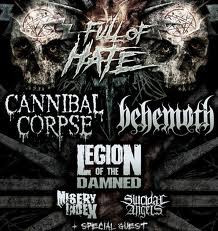 Full Of Hate 2012: Cannibal Corpse + Behemoth