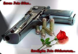 Un flingue et des roses