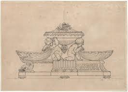 Dessin d'orfèvrerie de l'atelier de Robert-Joseph Auguste (1723-1805)