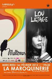 Concert de pop rock avec Meltones et Lou Lesage à la Maroquinerie