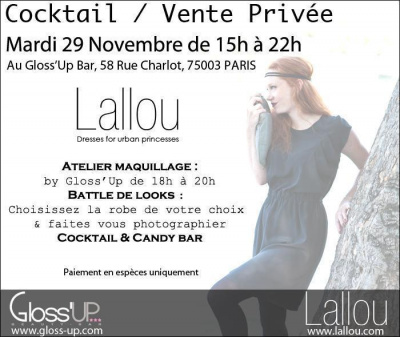 Cocktail / Vente Privée LALLOU