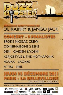 FINALE BUZZ BOOSTER ILE-DE-FRANCE + OL KAINRY & JANGO JACK